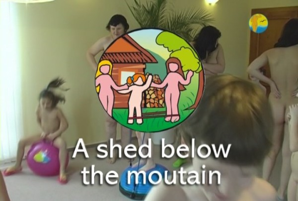 A Shed below the mountain - Naturist freedom family nudism video [720×480 | 01:03:07 | 3.3 GB]