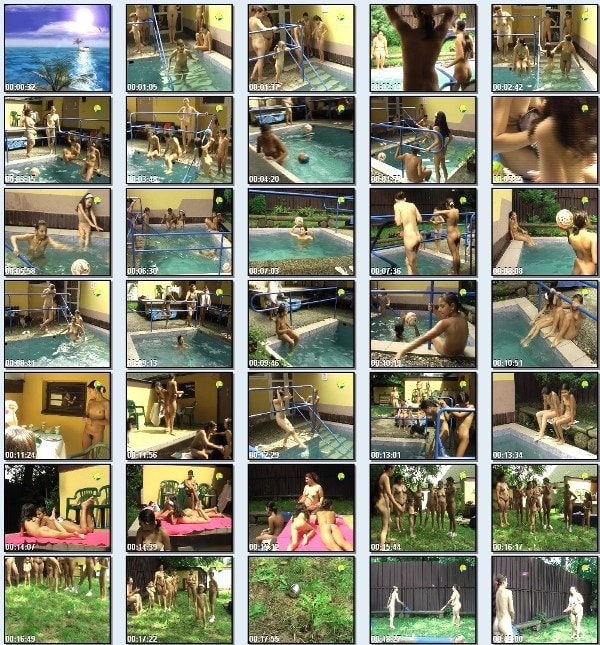 Poruba girls afternoon - Naturist freedom family nudism video in the pool [720×480 | 00:45:57 | 2.6 GB]
