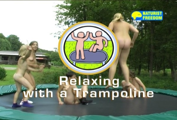 Relaxing with a Trampoline - Naturist freedom family nudism video [720×480 | 01:10:16 | 4.3 GB]