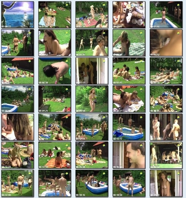 Cottage Picnic - family nudism outdoor video [720×480 | 01:15:45 | 3.8 GB]