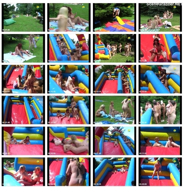 Inflatable Slide - Nudism family video  [720x480 | 00:55:01 | 1,5 GB]