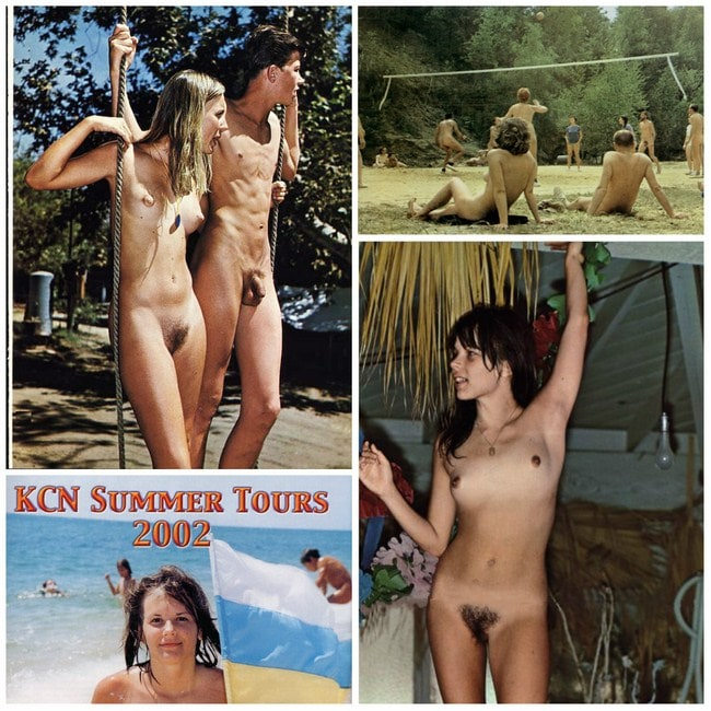 Retro photo nudism, nude recreation young nudists