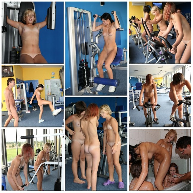 Photos young nudists in the gym