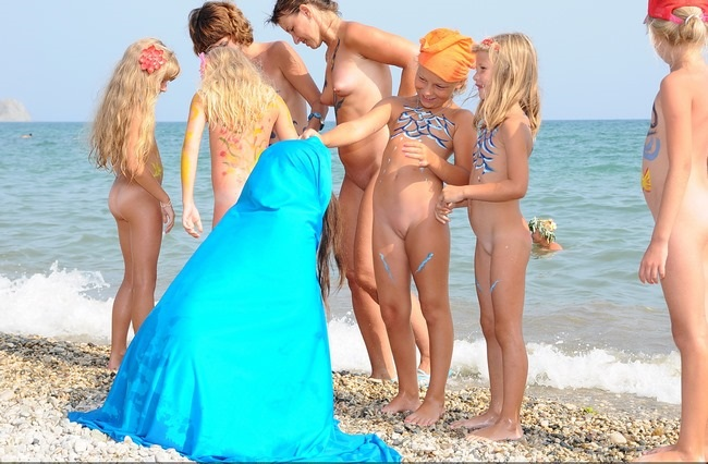 Koktebel sunny art festival nudism family holiday photo