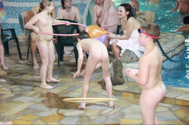 Czech nudists in the water park large photo collection