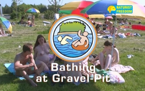 Bathing At Gravel Pit - Naturist freedom family nudism video [720×480 | 00:55:00 | 1.3 GB]