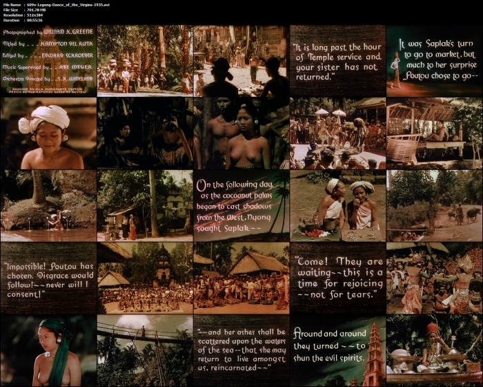 Legong: Dance of the Virgins 1935 [Bali India] Naturism documentary video